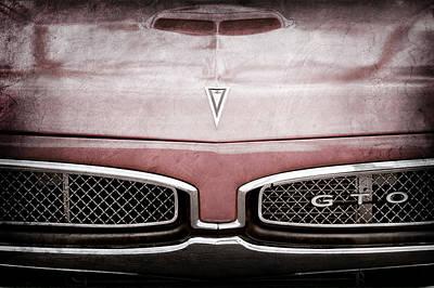 1967 Pontiac Gto Grille Emblem - Hood Emblem -0448ac Art Print by Jill Reger