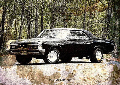 On Paper Digital Art - 1967 Pontiac Gto by Pablo Franchi
