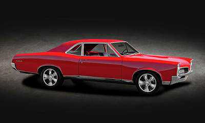 Photograph - 1967 Pontiac Gto Sport Coupe  -  1967pontiacgtocoupespttext170024 by Frank J Benz