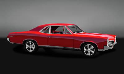 Photograph - 1967 Pontiac Gto Sport Coupe  -  67pontgtogry0024 by Frank J Benz