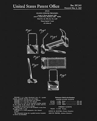 1967 Treadmill Patent Art Print by Dan Sproul