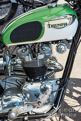 Photograph - 1967 Triumph Tr6 650cc by Tim Gainey