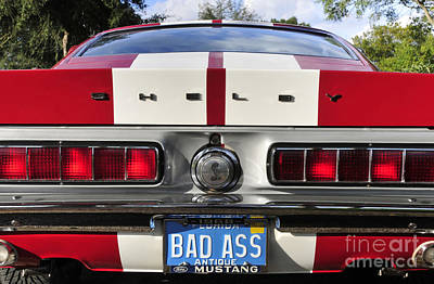 1968 Bad Ass Shelby Mustang Art Print by David Lee Thompson
