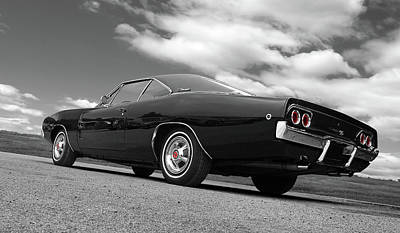 Photograph - 1968 Black Charger R/t by Gill Billington