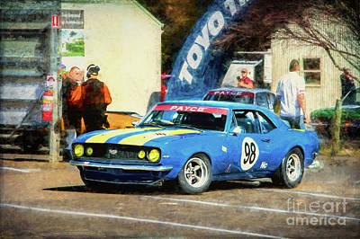 Photograph - 1968 Blue Ss Camaro by Stuart Row