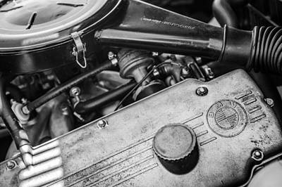 Photograph - 1968 Bmw 1600 Cabriolet Engine -0148bw by Jill Reger