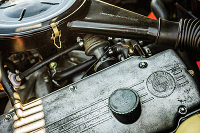 Photograph - 1968 Bmw 1600 Cabriolet Engine -0148c by Jill Reger