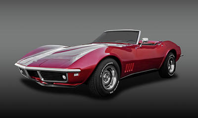 Photograph - 1968 C3 Chevrolet Corvette Stingray Convertible  -  68c3cvfa9602 by Frank J Benz