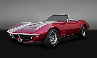 Photograph - 1968 C3 Chevrolet Corvette Stingray Convertible  -  68c3vetgry9602 by Frank J Benz