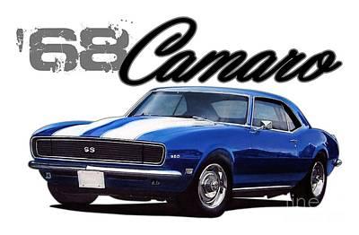 1968 Camaro Digital Art - 1968 Camaro by Paul Kuras