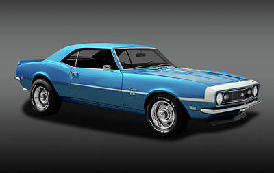 Photograph - 1968 Chevrolet Camaro Super Sport 350   -  1968chevcamaross350fa170414 by Frank J Benz