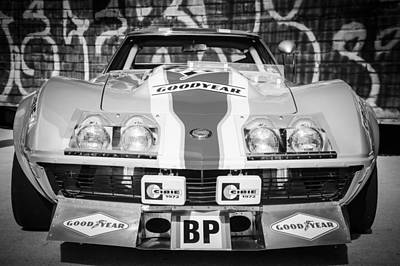 Photograph - 1968 Chevrolet Corvette L88 Red-nart Le Mans -0078bw by Jill Reger