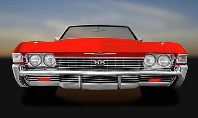Photograph - 1968 Chevrolet Impala Front End Detail  -  1968chevyss427impalafrtdetail183799 by Frank J Benz