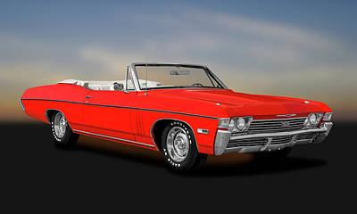 Photograph - 1968 Chevrolet Impala Super Sport 427  -  1968chevs427impalacv183794 by Frank J Benz