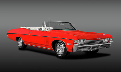 Photograph - 1968 Chevrolet Impala Super Sport 427  -  1968impalass427convertiblefa183794 by Frank J Benz
