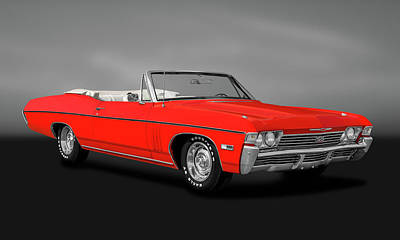 Photograph - 1968 Chevrolet Impala Super Sport 427  -  68ss427impalacvgry183794 by Frank J Benz