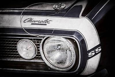 1968 Camaro Photograph - 1968 Chevrolet Yenko Super Camaro Hood Emblem -1785ac by Jill Reger