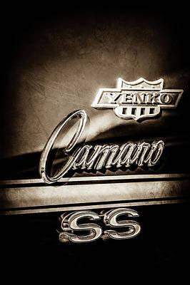 1968 Camaro Photograph - 1968 Chevrolet Yenko Super Camaro Ss Side Emblem -1762s by Jill Reger