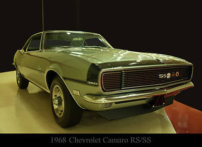 Photograph - 1968 Chevy Camaro Rs-ss by Chris Flees