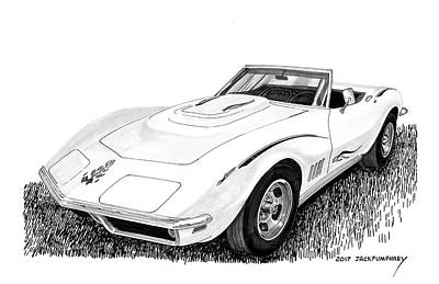 Painting - 1968 Corvette by Jack Pumphrey