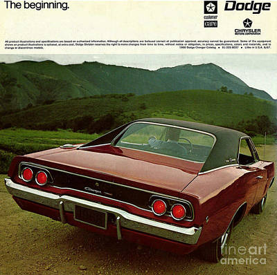 Photograph - 1968 Dodge Charger Brochure P 12 by R Muirhead Art