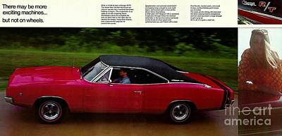 Photograph - 1968 Dodge Charger Brochure P 6 And 7 by R Muirhead Art