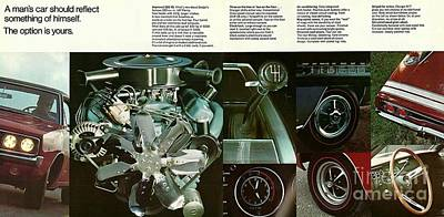 Photograph - 1968 Dodge Charger Brochure P 8 And 9 by R Muirhead Art