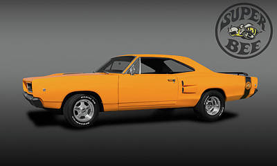 Photograph - 1968 Dodge Super Bee 2 Door Coupe  -  1968dodgesuperbeelogo173419 by Frank J Benz