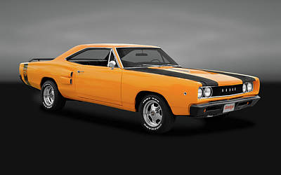 Photograph - 1968 Dodge Super Bee 2 Door Coupe  -  68superbeegry170278 by Frank J Benz