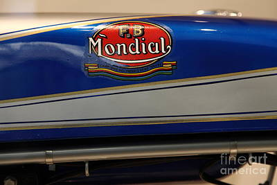 1968 Fb Mondial 48cc Record Sport . 5d17048 Art Print by Wingsdomain Art and Photography