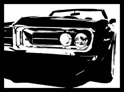 Digital Art - 1968 Firebird Tee by David King