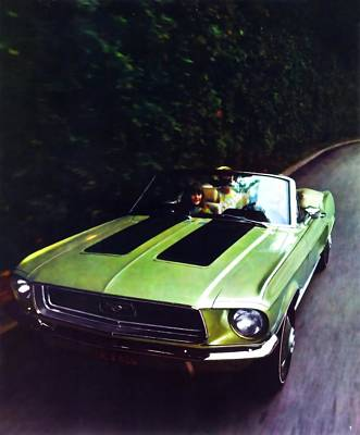 Painting - 1968 Ford Mustang Gt by R Muirhead Art