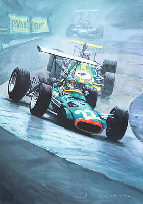 Courage Painting - 1968 German Gp Nurburgring  by Yuriy Shevchuk