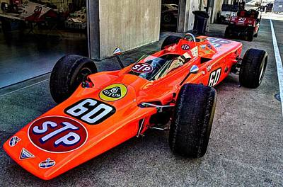 1968 Lotus 56 Turbine Indy Car #60 Angle Art Print by Josh Williams