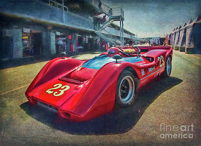 Photograph - Red 1968 Mclaren M6b by Stuart Row