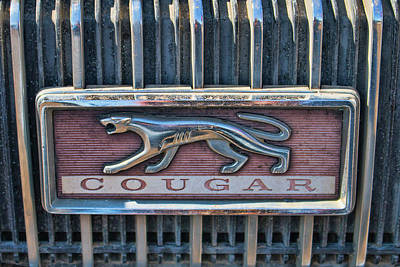 Photograph - 1968 Mercury Cougar Emblem by Kristia Adams
