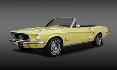 Photograph - 1968 Mustang 302 Convertible  -  1968fdmustcvfa9927 by Frank J Benz