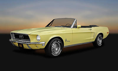 Photograph - 1968 Mustang 302 Convertible  -  1968mustangcv9927 by Frank J Benz