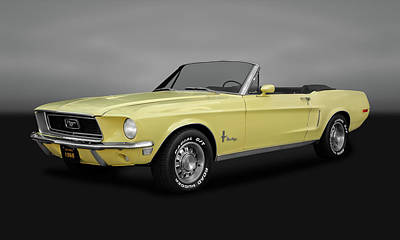 Photograph - 1968 Mustang 302 Convertible   -  68fdmustgry9927 by Frank J Benz