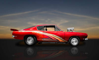 Photograph - 1968 Plymouth Barracuda 426 Blown Hemi-powered Street Racer by Frank J Benz