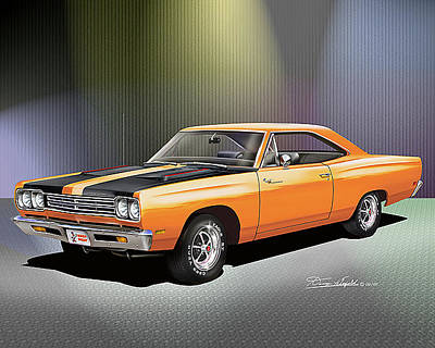 Sports Cars Painting - 1968  Plymouth Road Runner by Danny Whitfield