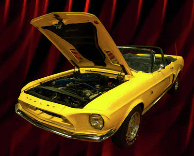 Painting - 1968 Shelby Gt500kr Digial Oil by Chris Flees
