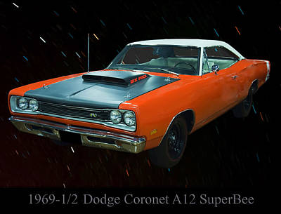 Digital Art - 1969 And A Half Dodge Cornet A12 Superbee by Chris Flees