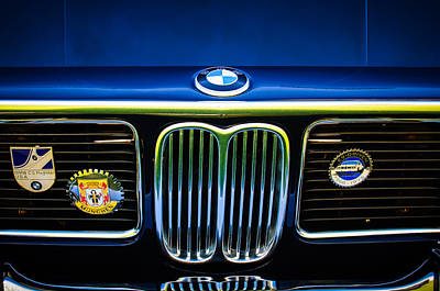 1969 Photograph - 1969 Bmw 2800 Cs E-9 Searies Grille -0342c by Jill Reger