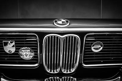 Photograph - 1969 Bmw 2800 Cs E-9 Series Grille -0342bw by Jill Reger
