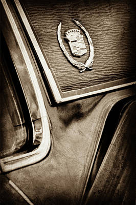1969 Cadillac Eldorado Emblem -0275s Art Print