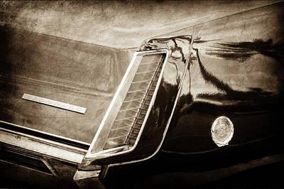 1969 Cadillac Eldorado Taillight Emblem -0318s Art Print