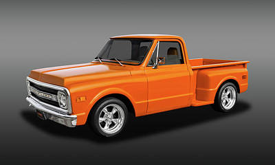 Photograph - 1969 Chevrolet C-10 Half Ton Pickup  -  1969chevpufa9391 by Frank J Benz