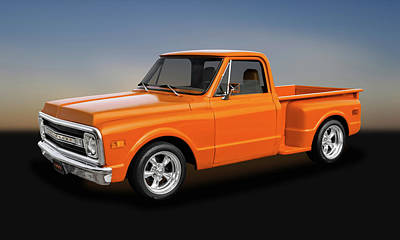 Photograph - 1969 Chevrolet C-10 Half Ton Pickup Truck  -  1969chevpu9391 by Frank J Benz