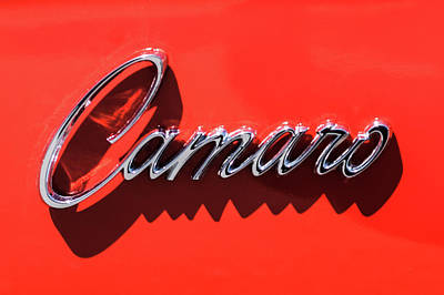 Classic Chevy Photograph - 1969 Chevrolet Camaro Z-28 302 Emblem -0152c by Jill Reger